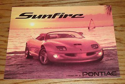 Original 1995 Pontiac Sunfire Concept Car Specification Sales Sheet 95 (Pontiac Sunfire Specifications)