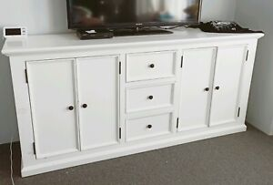 Buffet white wood 3 draws 2 cupboards