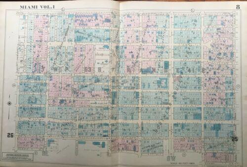 1947 MIAMI FLORIDA DADE COUNTY ARMORY JACKSON MEMORIAL HOSPITAL ATLAS MAP