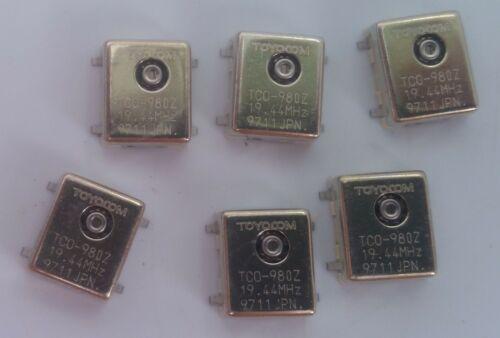 Toyocom TCO-980Z Crystal Oscilators 19.44 Mhz 6 Count
