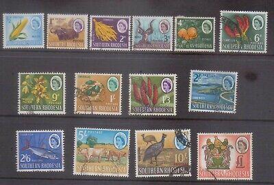 Southern Rhodesia Q Elizabeth II 1964 set used