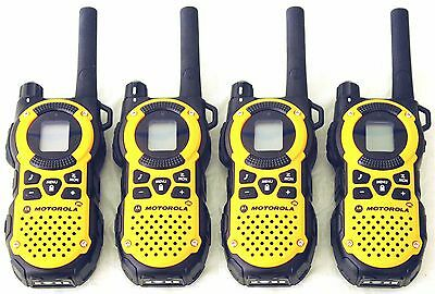 USED 4 Motorola MT350AA Walkie Talkie FRS GMRS 2Way Radios Weather VibraCall Bag. Buy it now for 72.0