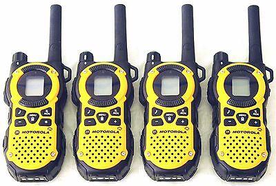 USED 4 Motorola MT350AA Walkie Talkie FRS GMRS 2Way Radios Weather VibraCall Bag