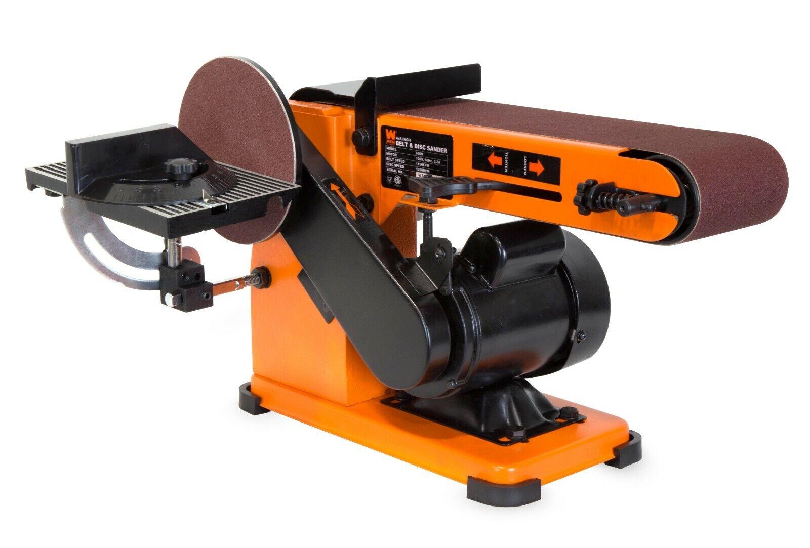4 X 36 Inch Belt Disc Corded Sander Steel Base Lock On Switc