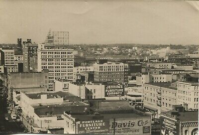 Snapshot Photo Portland Oregon Downtown 1940s