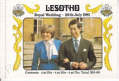 1981 Royal Wedding Charles & Diana MNH Stamp Booklet Lesotho Complete