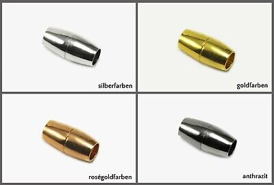 Magnetverschluss für Bänder Ø 3/5/6/7 mm Verschluss Schmuckverschluss, MV-21 Magnetverschluss