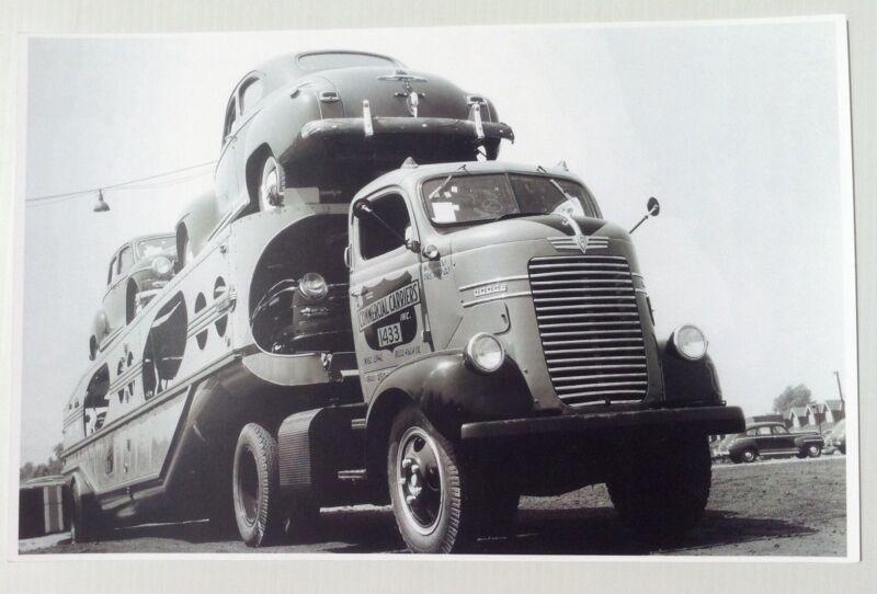 "1940 Dodge COE Transporter 11x17"" Reprint Garage Decor"