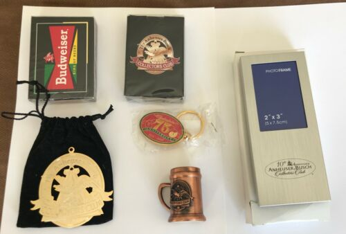 Anheuser Busch Budweiser Collectors Club Members Only Memorabilia Collection