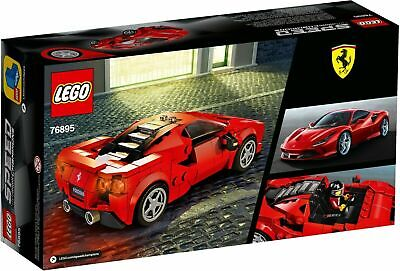 LEGO  Speed Champions Ferrari F8 Tributo Model Racing Car Building Toy Set 76895