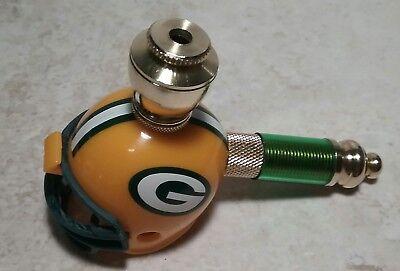 GREEN BAY PACKERS NFL FOOTBALL HELMET BRASS SMOKING MINI - Green Bay Helmets