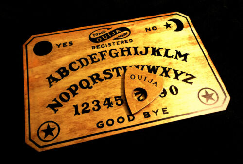 Wooden Ouija Board Set Vintage Repro Antique Fuld Style Handmade with Planchette