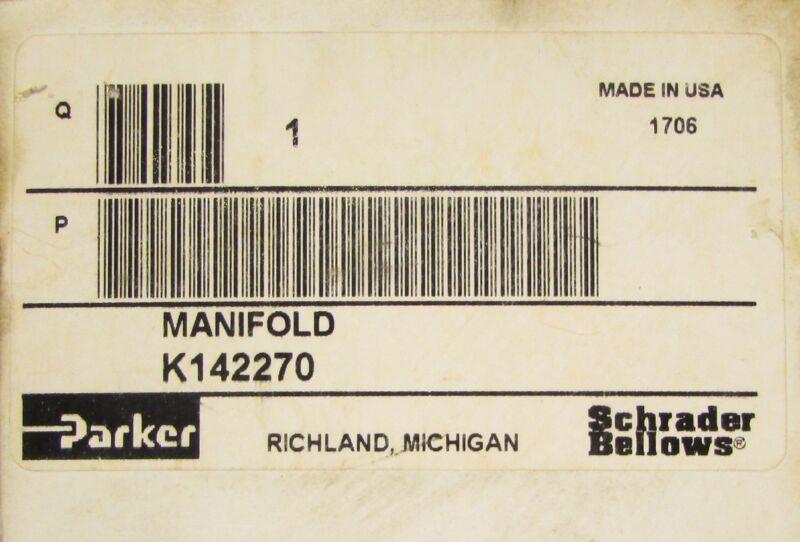 PARKER SHRADER BELLOWS Solenoid Valve Manifold K142270