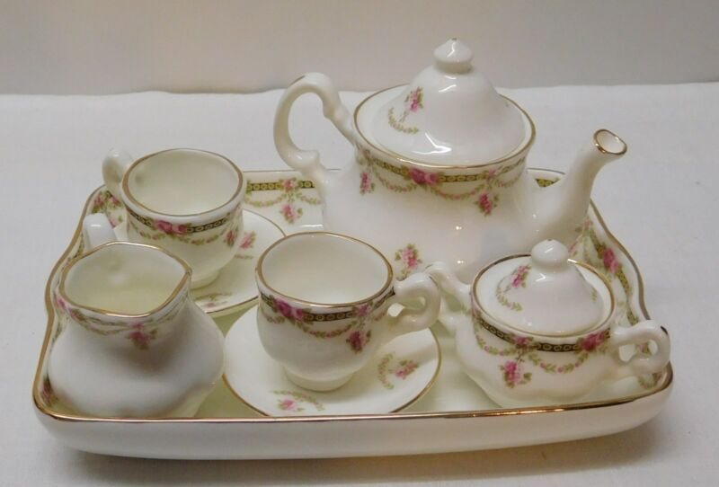 Miniature Teapot Sugar Creamer Fine Bone China Raesuevic Ceramics 10 pcs England