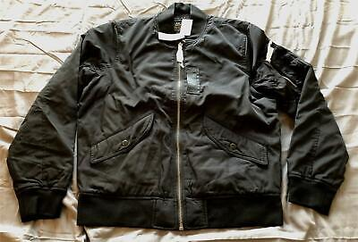 Abercrombie & Fitch Men's Military Bomber Jacket MC7 Black Large NWT $140