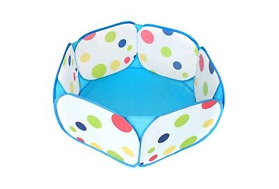 Portable Kids Ball Pit, Indoor & Outdoor Play Tent Playpen Ball Pit Pool (Blue)