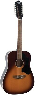 Recording King Series 9, 12-String Dreadnought Acoustic/Electric Sunburst Guitar