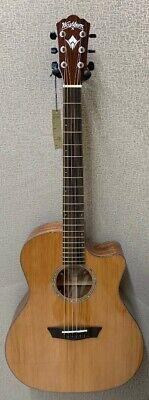 Washburn WLG110SWCEK Solid Wood Woodline Acoustic Electric Guitar +Case - #AM101