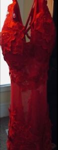 Red Lace Dress - Medium