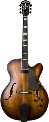 Top Jazz Guitar (Washburn J600K Flame Maple Arch Top Jazz Guitar with Hardshell Case - Blem )
