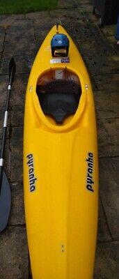 Pyranha Master 2 kayak, paddle, helmet & buoyancy aid