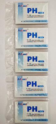 5 Packs 400 Strips Of 1-14 Ph Test Indicator Paper Lab Water Soil Body Aquarium