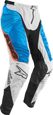 AXO Prisma MX Off-Road Motocross Pants White/Blue/Orange -