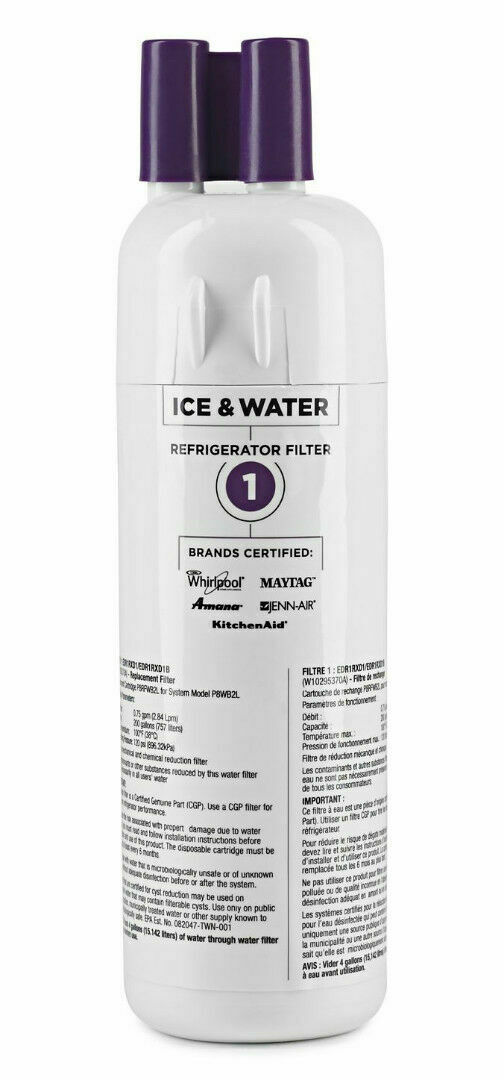 EveryDrop Ice and Refrigerator Water Filter, 1-Pack (10383251)