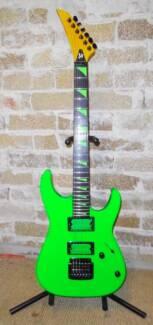 neon green 1 piece Black Korina guitar maple neck ebony fretboard North Ryde Ryde Area Preview
