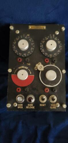 Military Bomber Release  Aircraft Pilot Control Panel and switches