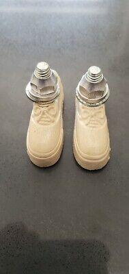 ODYSSEY Pitbull-Triax Vintage Retro Brake Shoes Old School NOS Freestyle White