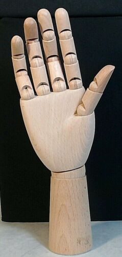 Wood Right Hand Jointed Movable Finger Wrist Artist Model Mannequin Prop Display