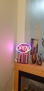 Open Sign - Like New Condition