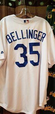 CODY BELLINGER DODGERS 2018 WS MAJESTIC REPLICA JERSEY HOME WHITE REAL -