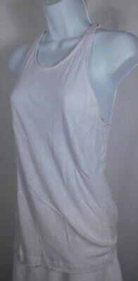 Linen Cotton Club - CLUB MONACO Women's Ivory Linen Cotton Sleeveless Racer Bck Tank Top Blouse Sz M