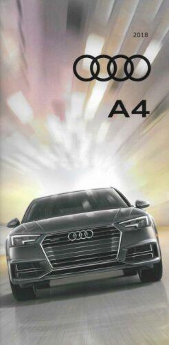 2018 18  Audi  A4  original sales  brochure  MINT