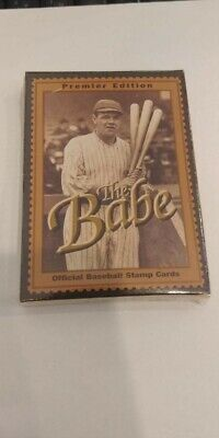 1994 Babe Ruth Official baseball card stamp sets The Babe 12 card set Babe Ruth Official Baseball