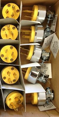 (10) Male Extension Cord Replacement Ends 15 Amp Electrical Power Plug Repair