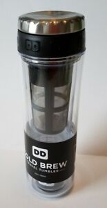 Dunkin' Donuts COLD BREW Travel Tumbler 12 Ounce DD NEW MUG 2016 Discontinued