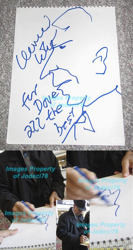 *SELF PORTRAIT* Leonard Cohen Original Signed Sketch Art Exact Proof JSA COA