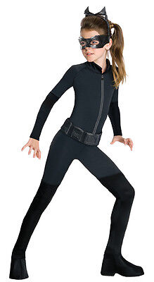 Girls Catwoman Costume Kids Black Cat Woman Girl Suit Stretch Jumpsuit Child - Cat Women Costume