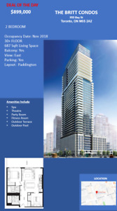 The Britt Condo Assignments in Downtown Toronto Bay St