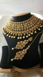 Indian Pakistani ladies Punjabi jewellery choker earrings