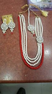 Indian Pakistani ladies Punjabi jewellery choker necklace set