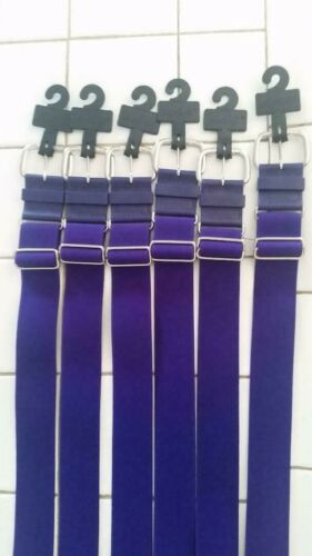 NEW All Star Baseball Softball Adjustable Elastic Belts Purple lot of 6 belts