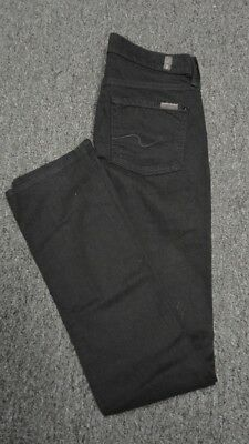 7 FOR ALL MANKIND Black 5 Pockets Straight Leg Solid Casual Jeans Sz 25 FF3775