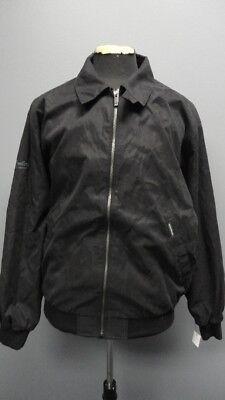 WEATHERPROOF Black Pockets Full Zip Long Sleeves Rain Coat NWT Sz L FF9472 Weatherproof Adult Zip Sleeve