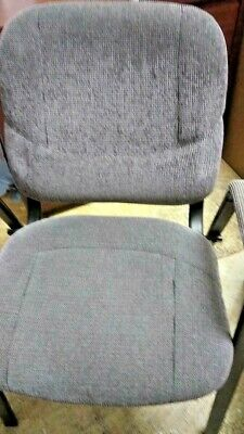 Steel Office Lobby Visitor Arm Chairs Task Guest Chair Gray Used