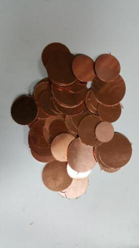 5 pounds various sizes and thickness solid copper circle blanks