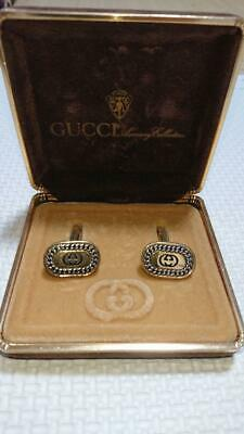 GUCCI Cufflinks Gold color Mens Accessories USED Lost Box Acceptable Vintage F/S